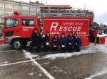 女性消防団です!