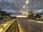 西船橋駅から見えた変な空(2013年9月26日)