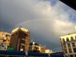 西船橋駅バス停で見た虹