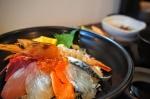 お昼の海鮮丼美味しかった~~