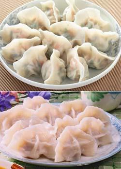 大清花餃子(ダー チン ファ ジャオ ズー):【水餃子】大連特産の海鮮を贅沢に使っています