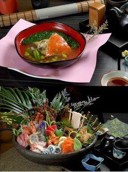 横浜港:蟹スープとお刺身の盛り合わせ