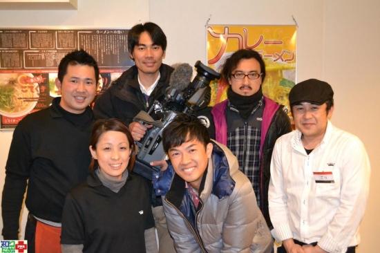 TSSテレビ新広島の「知りため!プラス」の皆さんが、広島ラーメンの撮影に来てくれました ←HPはココをクリックしてね!