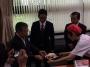 溝口善兵衛県知事の表敬訪問をさせていただきました!