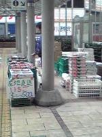 柏駅西口でイチゴ