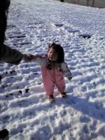 初めて雪をみたの!