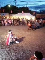 夏祭りで獅子舞を舞います