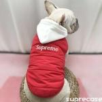 カコイイ iphone xr/xs maxケース supreme 犬服 パーカー ブラント